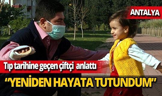 38 yaşındaki Cihan Topal, Prof. Dr. Ömer Özkan'ın yaptığı çift kol nakli ameliyatı ile hayata tutundu