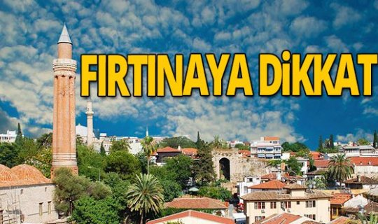 6 Kasım 2020 Antalya'da hava durumu