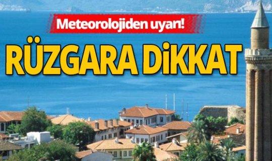 8 Kasım 2020 Antalya'da hava durumu