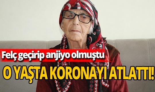 95 yaşındaki kadın koronayı yendi