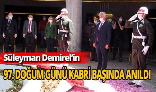 9. Cumhurbaşkanı Demirel'e kabri başında 97. doğum günü anması