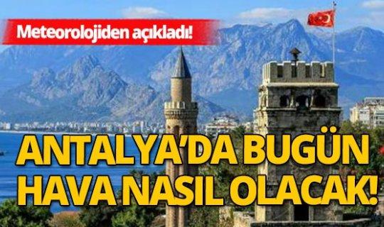 9 Kasım 2020 Antalya'da hava durumu