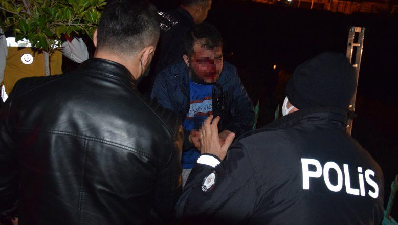 Kumluca'da alkollü sürücü dereye düştü