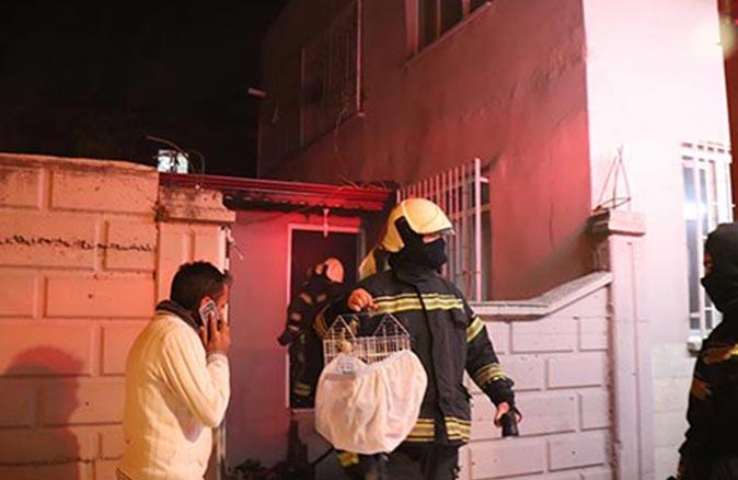 Denizli de bir evde yangın çıktı