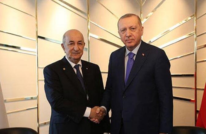 Cumhurbaşkanı Recep Tayyip Erdoğan, Cezayir Cumhurbaşkanı Tebbun ile görüştü
