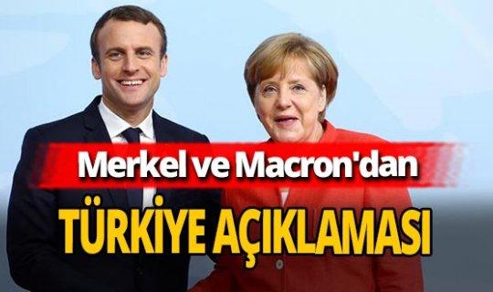 AB Liderler Zirvesi sonrası Merkel ve Macron'dan Türkiye açıklaması