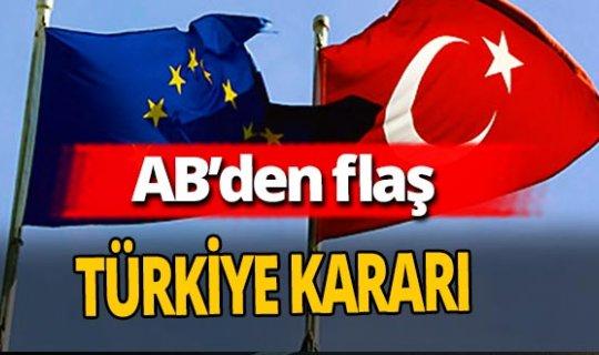 AB Türkiye'ye yönelik yaptırım talebini kabul etmedi