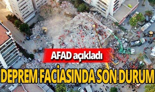 AFAD İzmir depremindeki son durumu açıkladı