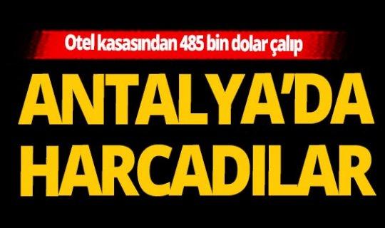 Afyon'da çalıp Antalya'da harcadılar