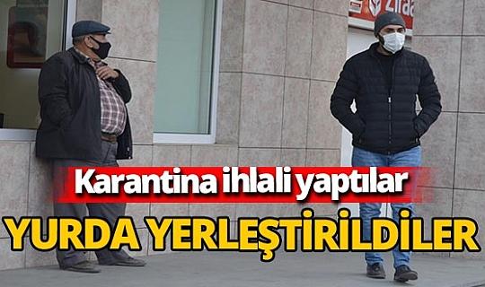 Afyonkarahisar'da karantina ihlali yapan kişi ile oğlu KYK yurduna yerleştirildi