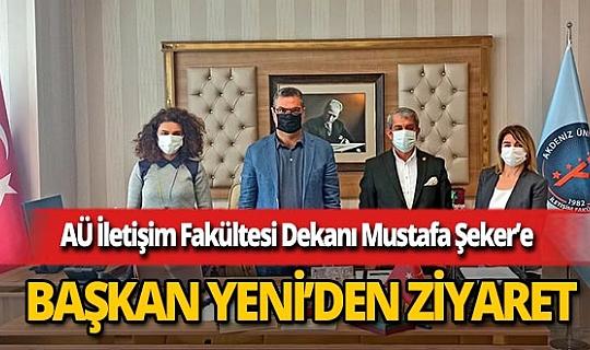 AGC Başkanı Mevlüt Yeni'den Akdeniz Üniversitesi İletişim Fakültesi Dekanı Prof.Dr. Mustafa Şeker'e ziyaret
