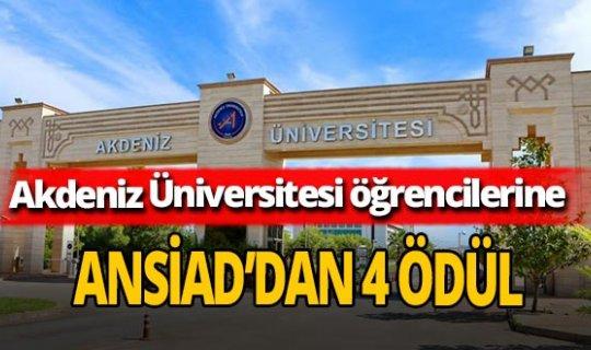 Akdeniz Üniversitesi öğrencilerine ANSİAD'dan 4 ödül