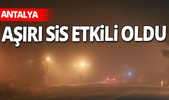 Akseki'de aşırı sis etkili oldu...