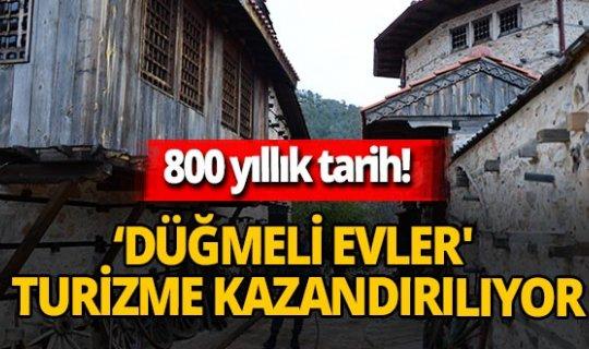 Akseki'de 800 yıllık tarih! Düğmeli evlerin restorasyon çalışmaları sürüyor