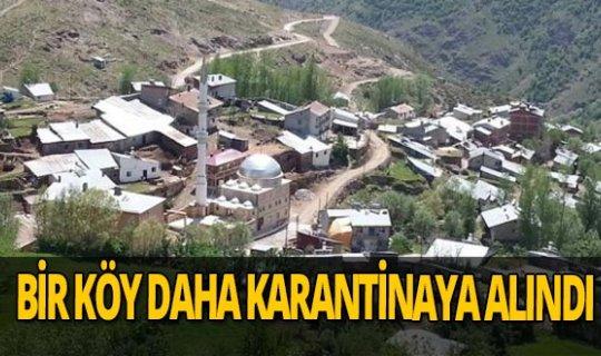 Aksu köyü karantinaya alındı