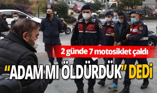 Alanya'da 2 günde 7 motosiklet çalan hırsız yakalandı