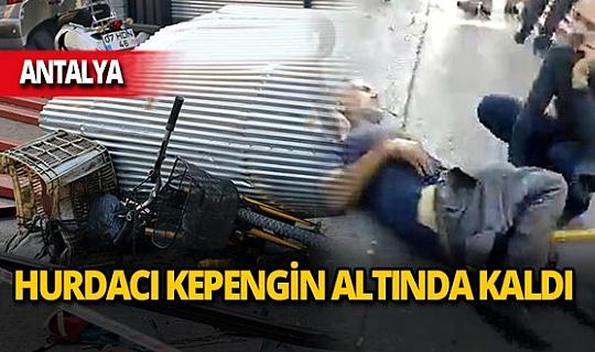 Alanya'da 59 yaşındaki Ahmet Besili demir profillerin altında kaldı