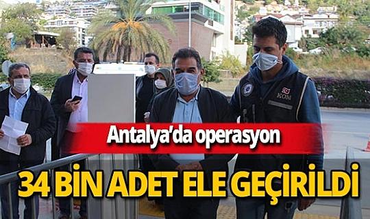 Alanya'da kaçak tütün operasyonu! 34 bin 800 adet makaron ele geçirildi