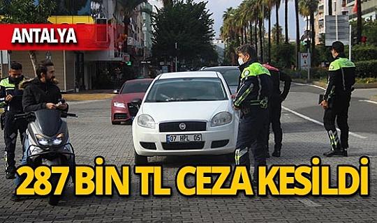 Alanya'da 114 kişiye toplam 287 bin TL ceza kesildi