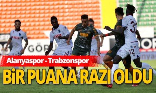 Alanyaspor - Trabzonspor maç sona erdi!