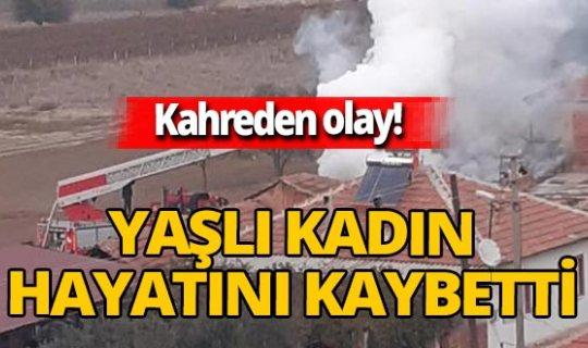 Alaşehir'de yalnız yaşayan 86 yaşındaki Zeynep Bayram evinde çıkan yangında hayatını kaybetti