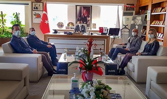 Aldaş Genel Müdür Yardımcısı Murat Zeydanlı'dan Kemer Belediye Başkanı Necati Topaloğlu'na ziyaret
