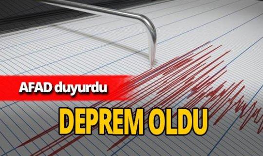 Ankara'da deprem oldu