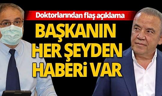 Antalya Büyükşehir Belediye Başkanı Böcek'in doktorlarından flaş açıklama