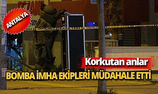 Antalya'da 2 metrelik müzik aleti kutusu korkuttu