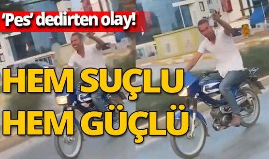Antalya'da alkol dolu bardakla trafiğe çıktı! Kendisini çekenlere 'şerefe' dedi