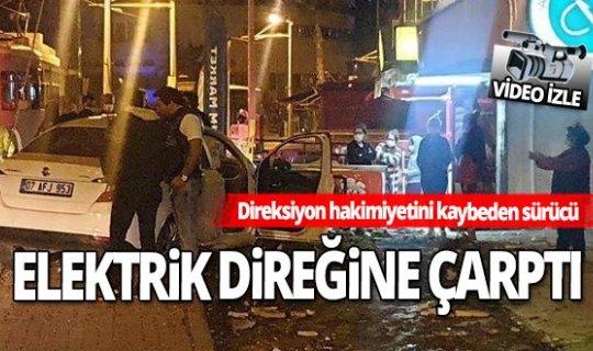 Antalya'da aşırı hız kazaya neden oldu! Olay anı kameralara yansıdı...