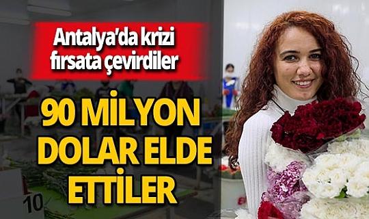 Antalya'da çiçek sektörü, 90 milyon dolarlık gelir elde etti