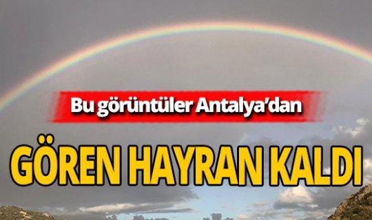 Antalya'da çift gökkuşağılı görsel şölen