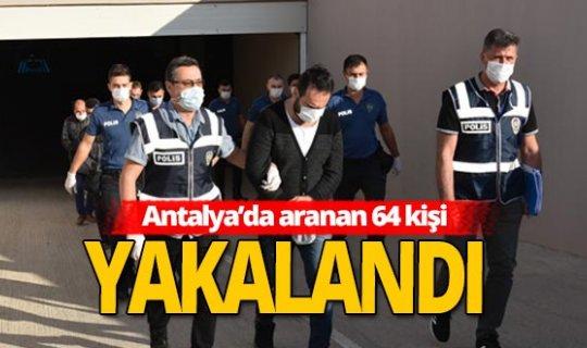 Antalya'da çok yönlü operasyon!