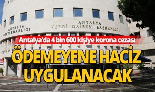 Antalya'da COVİD-19 cezası.. Erken ödeyene yüzde 25 indirim!