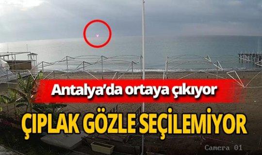 Antalya'da deniz üzerinde kırmızı ışık görüldü