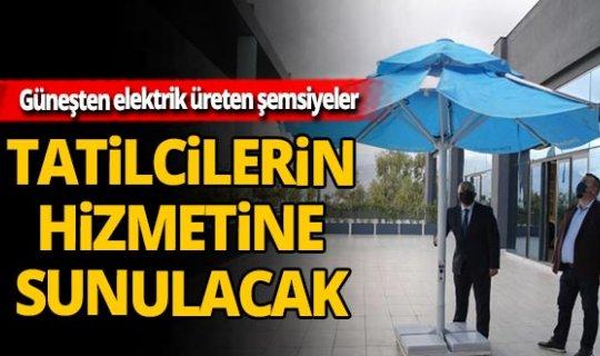 Antalya'da elektrik üretilebilen plaj şemsiyeleri üretildi!