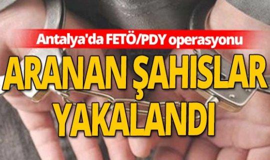 Antalya'da FETÖ/PDY operasyonlarında 10 gözaltı