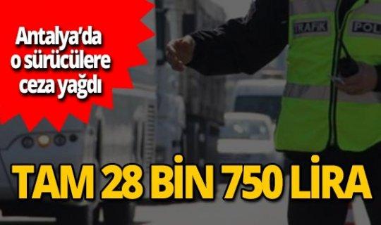 Antalya'da hava destekli denetim! Sürücülere ceza yağdı