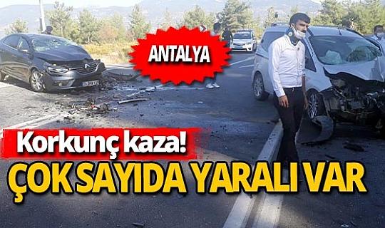 Antalya'da korkunç kaza: 6 yaralı