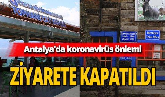 Antalya'da koronavirüs önlemleri! Hayvanat Bahçesi ziyarete kapatıldı