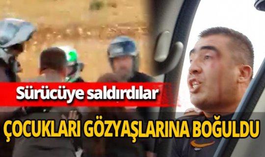 Antalya'da motosikletli grup otomobil sürücüsünü darp etti