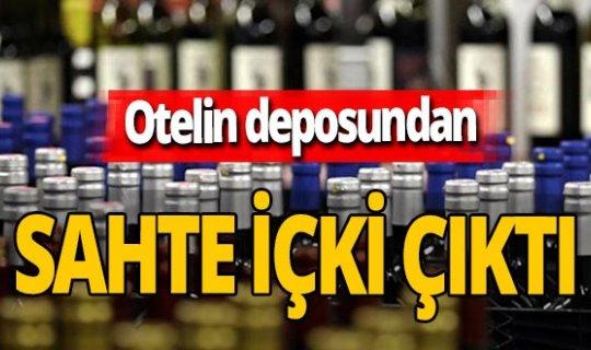 Antalya'da otelin deposundan sahte içki çıktı