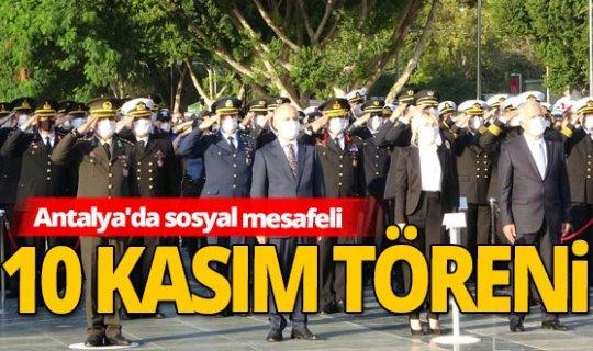 Antalya'da pandemiye uygun anma töreni