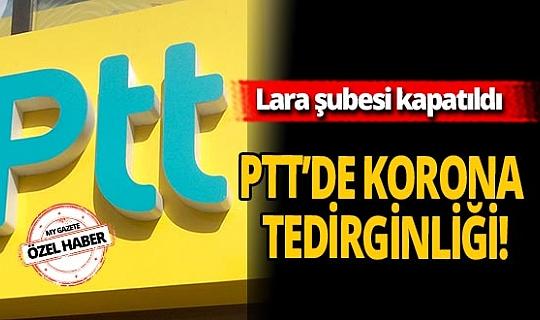 Antalya'da PTT'de koronavirüs tedirginliği