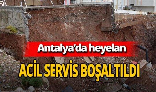 Antalya'da sağanak yağış sonrası heyelan! Hastanenin acil servisi boşaltıldı