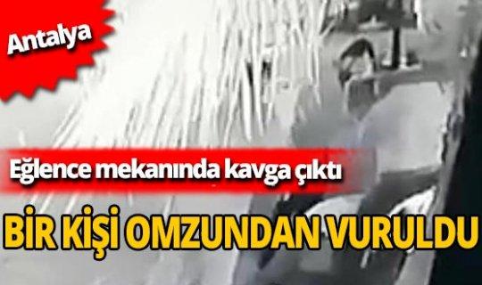 Antalya'da silahlı kavga çıktı: Bir kişi omzundan vuruldu