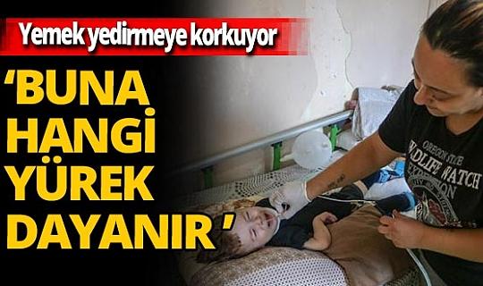 Antalya'da SMA'lı oğlu kilo almasın diye yemek yedirmeye korkuyor