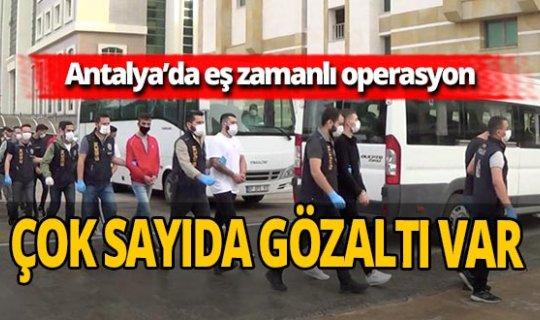 Antalya'da suç örgütü çökertildi: 43 kişi gözaltına alındı