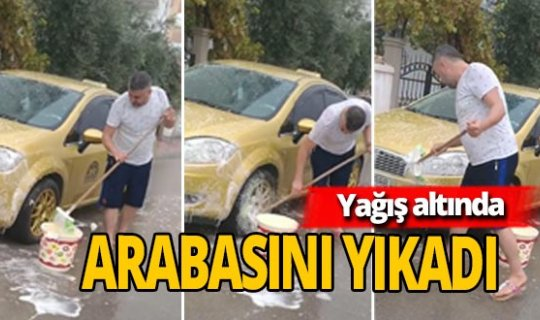 Antalya'da yağmuru fırsata çevirdiler!